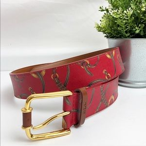 Ralph Lauren | Red printed belt size large